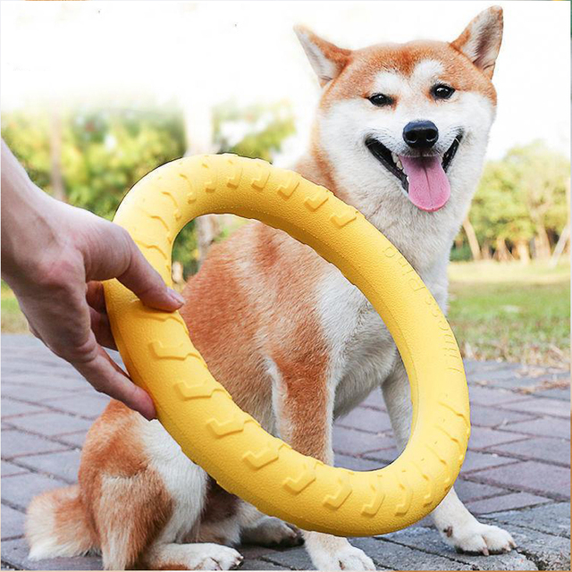 Pet Flying Discs EVA Dog Training Ring Puller Resistant Bite Floating Toy Puppy Outdoor Interactive Game Playing Products Supply 1