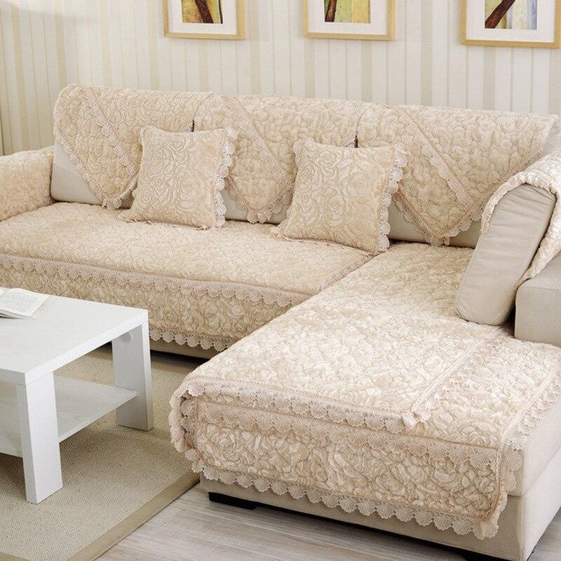 5 Colors Sofa Cover Velvet Comfortable Slipcover Slip Seater Couch  Sofas Towel For Living Room Decor Cushion Blanket Cushion