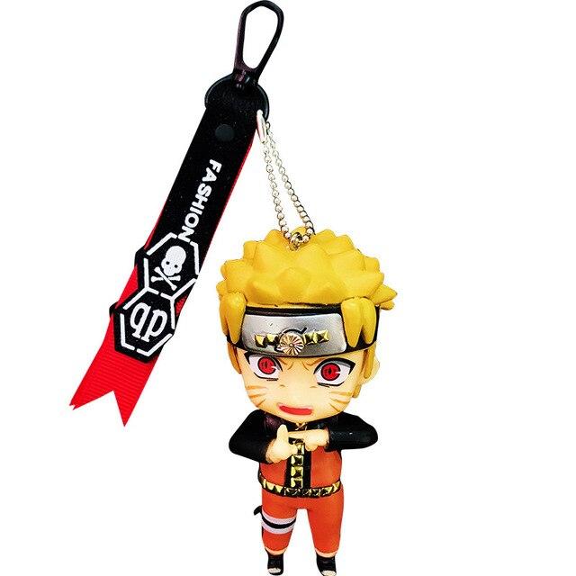 2019 Anime Naruto Keychain Sasuke/itachi/Kakashi Double Sided PVC Key Chain Pendant Accessories Cartoon Key Ring For Fans Gift