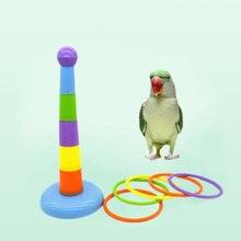 Забавная мини игрушка ободок для попугая развивающая игра красочные