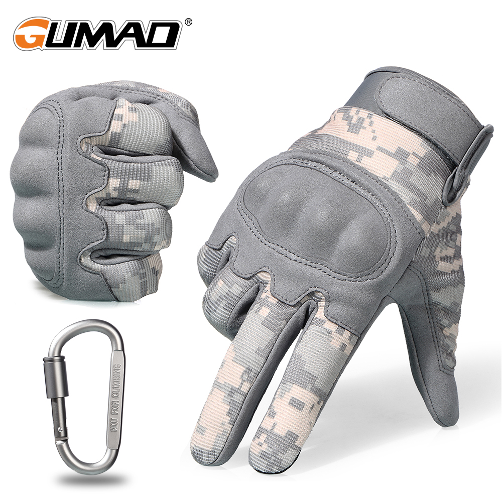 Touch Screen ACU Camouflage Tactical Gloves Army Military Combat Airsoft Outdoor Climbing Shooting Paintball Full Finger Gloves