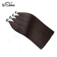 Leshine 100% Human Hair Remy Hair I Tip Hair Keratin Fusion Color 2# Brazilian Hair Seamless Hair Extensions 100 Hair Strands