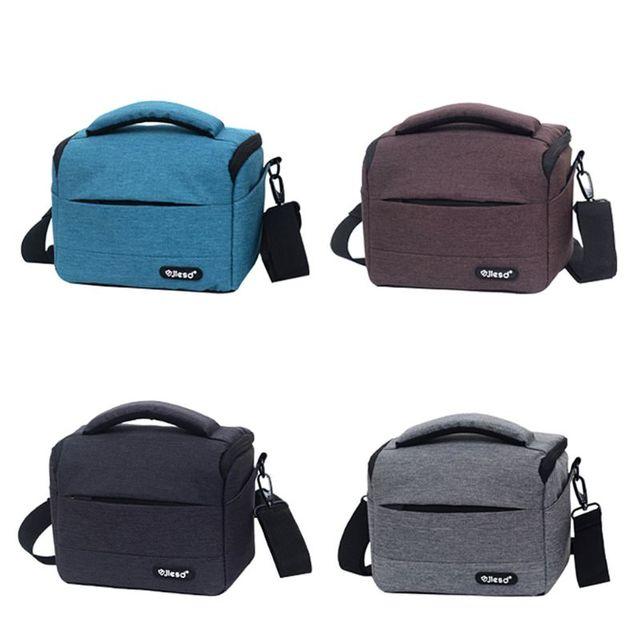 Kamera kamera çantası sırt çantası dayanıklı Polyester omuz Crossbody çanta su geçirmez fotoğraf fotoğraf taşıma çantası Canon Nikon için