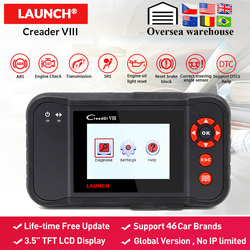 Launch x431 obd2 Creader VIII code reader scanner Car Engine ABS SRS Airbag AT diagnostic tool with 3 reset function free update
