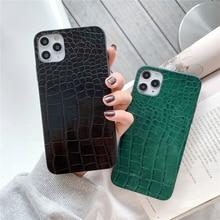 Retro Vintage Crocodile Pattern Texture PU Leather Phone Case For iPhone 11 12 Mini Pro XS MAX XR X 7 8 Plus SE 2020 Back Cover