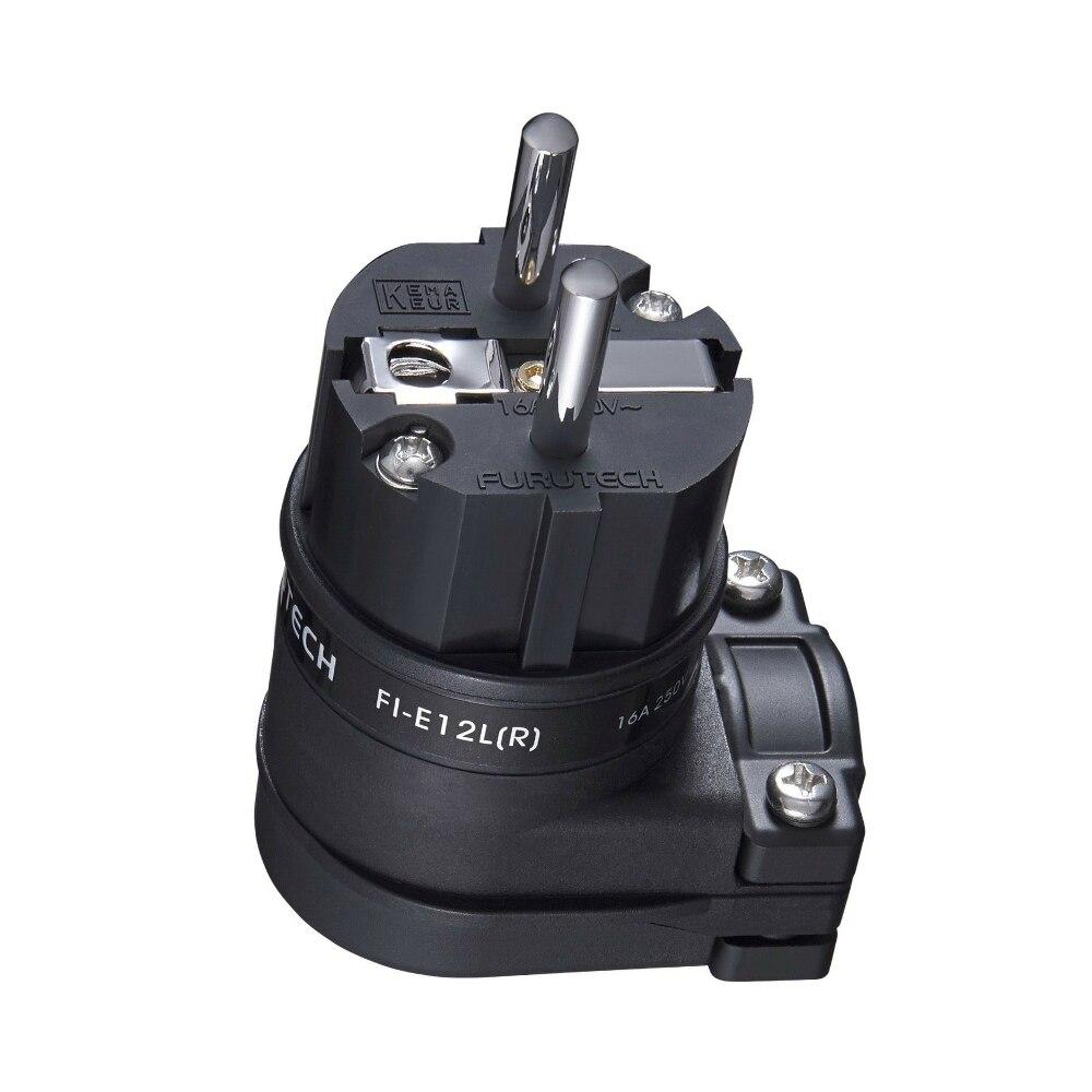 Furutech FI-E12L (R) FI-12ML (G) Rhodium 24K Gold Schuko Connector Angled Schuko Plug