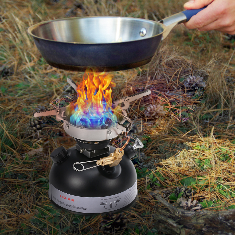 Camping Gasoline Stove Portable Outdoor Stove Mini Liquid Fuel Alcohol Diesel Camping Picnic Burner Petrol Oil