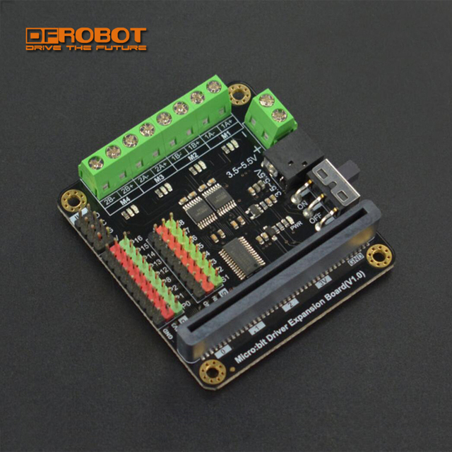 DFRobot Micro:bit Microbit Driver driving controller/Expansion Board with 4 way Motor drives + 8 way servo interfaces for kids