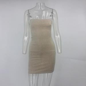Image 5 - Ceremokiss Sparkle Lấp Lánh Đầm Sexy Ôm Vai Đảng Hộp Đêm Bodycon ĐẦM THU ĐÔNG Dây Hở Lưng Mini Vestidos