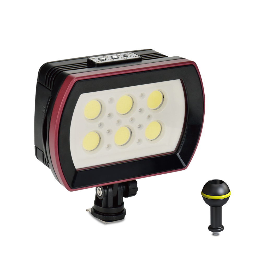 Photography SL 22 LED Diving Light Underwater Fill in Lamp 6LEDs Aluminum Alloy 40M Waterproof with White Lights Max. 6000LM