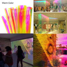 90x300cm Colorful Window Glass Film Heat Rejection Sunscreen Cellophane Chameleon Film for Home Office Decoration Sticker