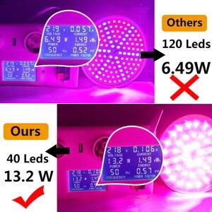 Image 4 - Led büyümek ışık tam spektrumlu bitki ışık Phy lamba E27 lamba büyümeye yol açtı yetiştirme bitkiler için ışık kapalı fidanları su geçirmez 30Led