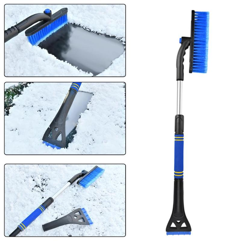 VODOOL Detachable Telescopic Handle Car Snow Ice Scraper Snow Brush Shovel Winter Auto Window Snow Removal Tool Cleaning Brush