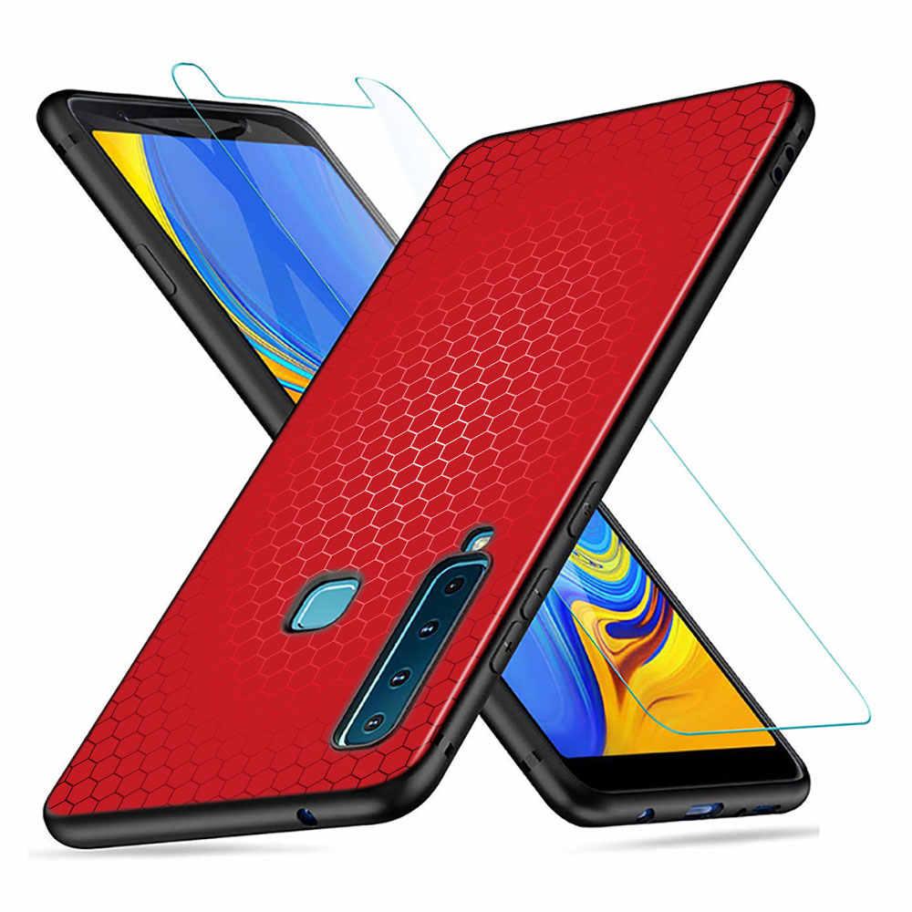 Coque en Silicone noir en Fiber de carbone pour Samsung Galaxy A9 A7 2018 A8 A6 Plus A5 A3 Star 2017 2016 coque de téléphone
