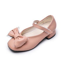 Autumn New Kids Shoes Girls Princess Shoes For Wedding Party Girls Dance Dress Shoes Pink beige Black 3 4 5 6 7 8 9 10 11 12-16T yuyaobaby black 16t