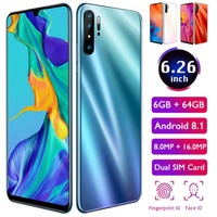 P30 Pro Mobile Smart Android 8.1 Phone 6.26 inch 1660*1080 HD LCD Drop Screen 6GB+64GB Smartphone Support Dual SIM Card Celular