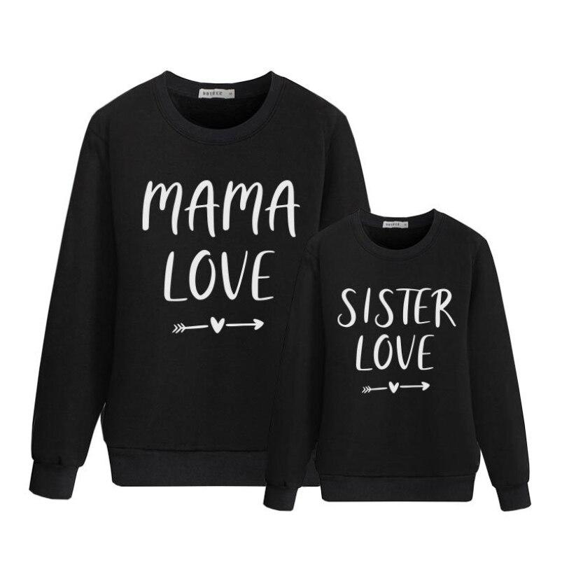 Familie Passenden Kleidung Brief Mutter Und Tochter Kleidung Langarm Mama Und Mich Sweatshirt Kleidung Mutter Und Tochter Kleidung
