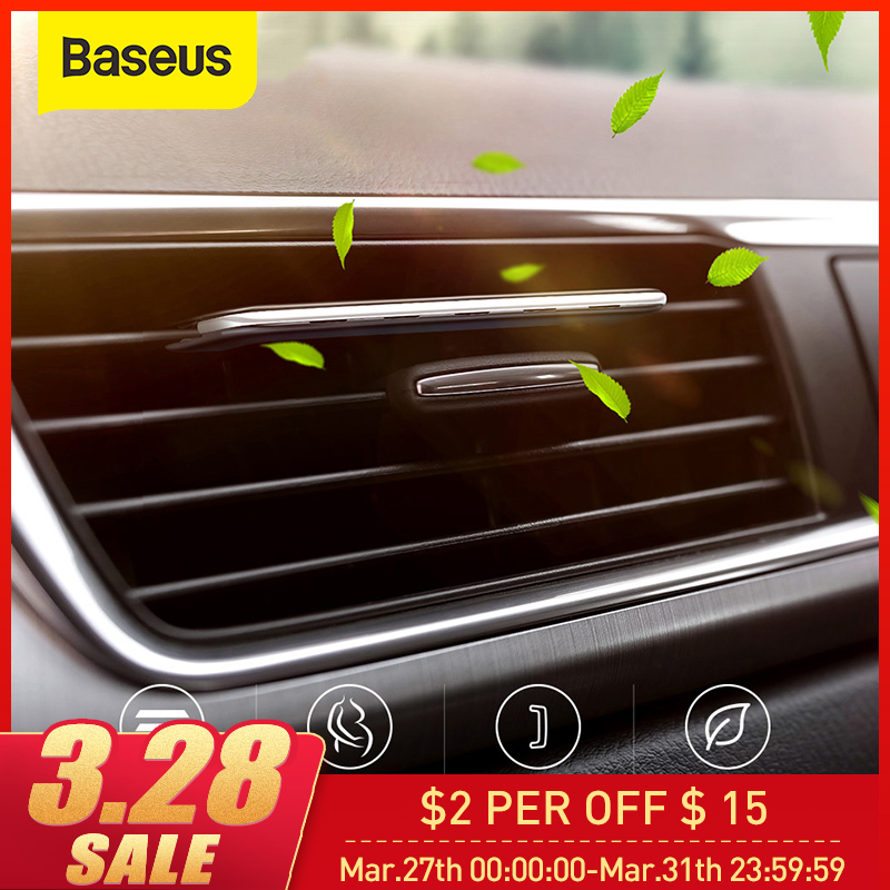 Baseus Car Phone Holder With Aromatherapy Air Freshener Clip Auto Air Outlet Perfume Aroma Diffuser Super Thin Car Air Freshener