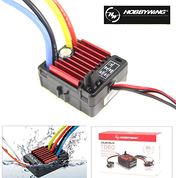 HobbyWing QuicRun 1060 60A Brushed Electronic Speed Controller ESC For 1:10 RC Car Waterproof