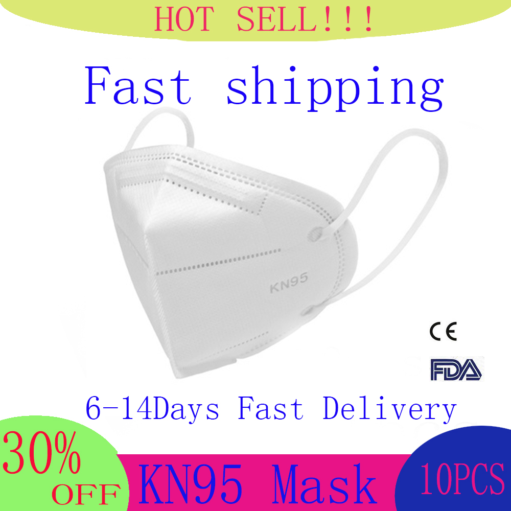 Fast Delivery 10Pcs/Lot N95 Face Mask PM2.5 Bacteria Proof Anti Infection FFP2 Masks Particulate N95 Respirator Face Masks KF94