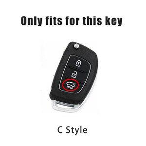Image 2 - Weiche TPU Auto Schlüssel Abdeckung Fall Halter Keychain Für Hyundai Tucson Creta ix25 i10 i20 i30 Verna Mistra Elantra 2015 2018 zubehör