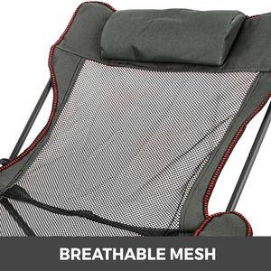 Image 5 - VEVOR שכיבה מתקפל מחנה כיסא עם הדום נייד כיסא תנומה עבור חיצוני חוף שמש קמפינג דיג טרקלין כיסא