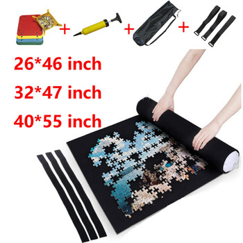 Puzzle Accessories Toy Portable Travel Storage Bag Puzzle Storage Roll Up Mat Jigsaw Roll Felt Mat Play Mat for up 3000 Pieces
