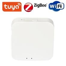 Tuya ZigBee Hub de enlace Dispositivo de hogar inteligente soporte agregar aplicación Gateway Control de luz inteligente ZigBee 3,0 Control remoto inalámbrico