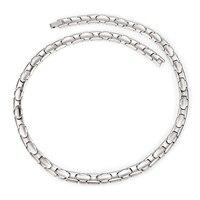 Inox Pure Titanium Necklaces for Women Men Fashion Jewelry Initial Health Energy Negative Ion Germanium Hematite Metallic Color