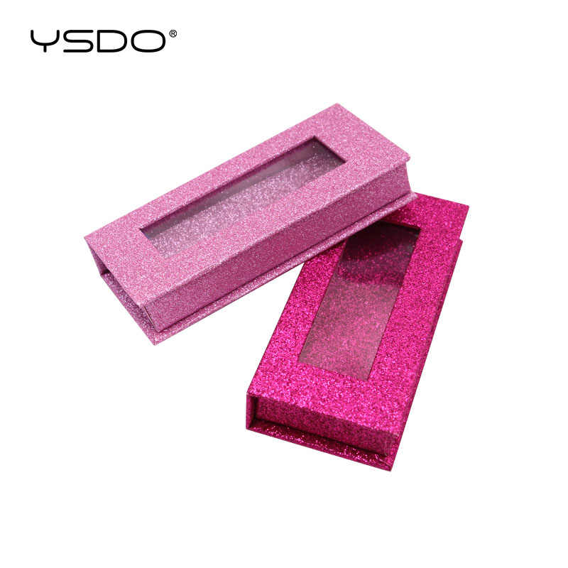 Großhandel falsche wimpern verpackung box 3d Nerz Wimpern 1 pairs Glitter Fall Leere Make-Up Wimpern Lagerung Individuelles logo