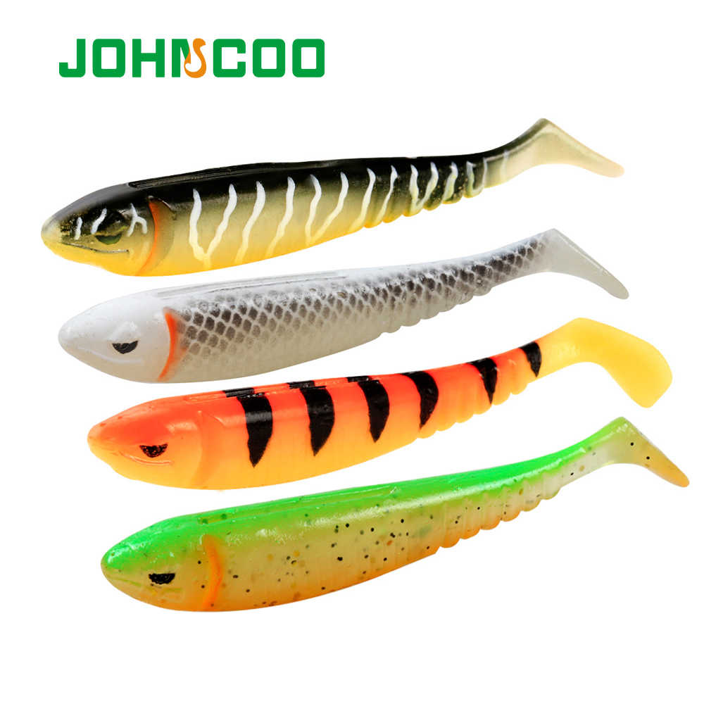 10Pcs Soft Plastic Lure Fishing Shad Bait Paddle Tail 9cm Rubber Freshwater Pike