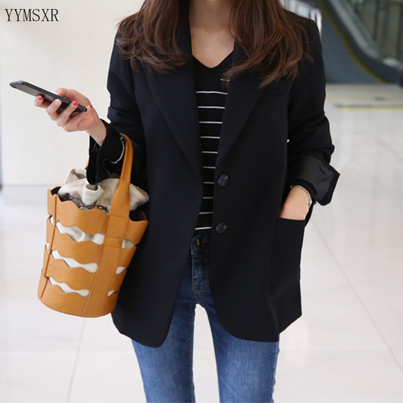 Black women's suit smock 2020 Korean version of the new spring and autumn slim ladies jacket Female Casual blazer