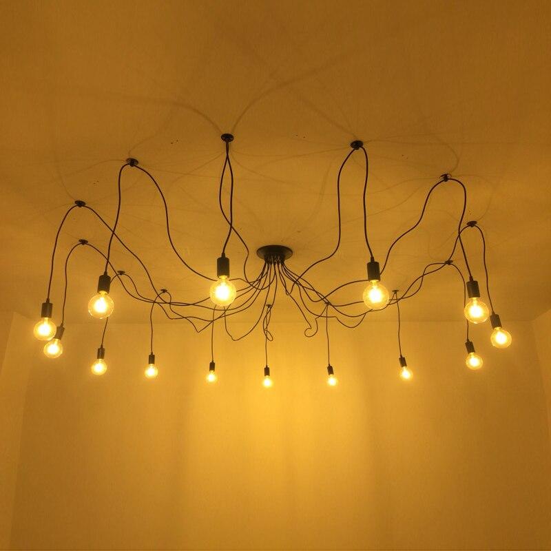 Image 4 - DIY Pendant lights Modern Retro Hanging Lamps Edison Bulb Fixtures Spider Ceiling Lamp Fixture Light for Living Room Home Decorlight choirlight up your lifelighting a pilot light -