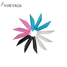 50pcs New Archery Spin Vanes  1.75 inch Spiral Feather With Tape Sticker Arrow Accessories