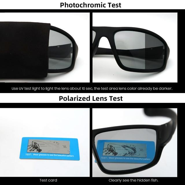 VIVIBEE Photochromic Matte Black Sports Sunglasses 5
