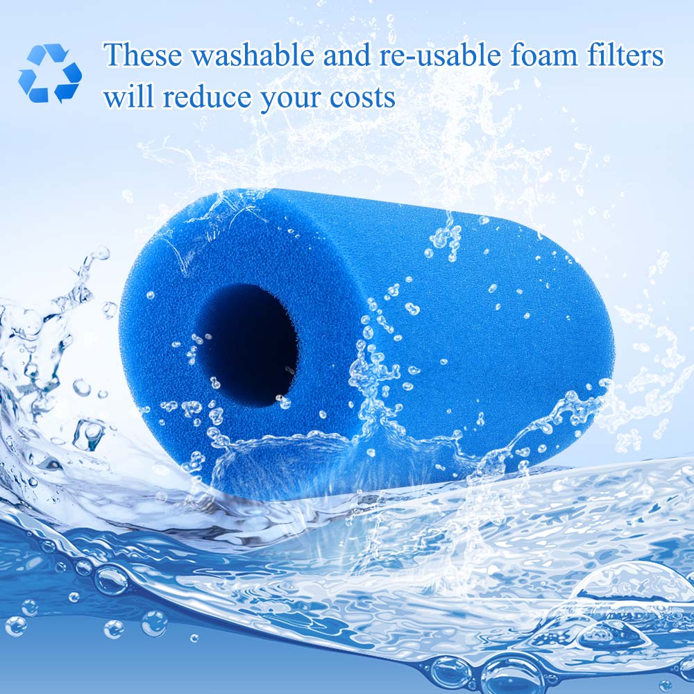 Foam Filter Sponge Reusable Clean Water Cartridge Washable Re-usable Intex Type A Foam Filters Swimming Pool Filter Cleaner Tool