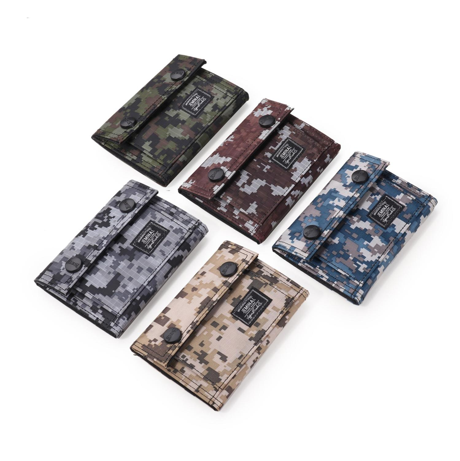 Men's Wallet Camouflage Casual Sports Canvas Bag Wallet Of The Men's Personality Short Trend Wallet 2019 Free Shipping