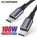 100W кабель-Переходник USB C на кабель с разъемом USB Type-C USBC Быстродействующее зарядное устройство PD шнур USB-C Type-c кабель для Xiaomi mi Band 10 Pro Samsung S20 ...