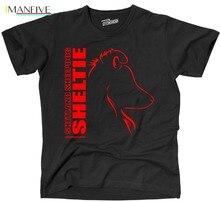 2019 New Men Tee Shirt SCHNAPPCHEN T-Shirt SHETLAND SHEEPDOG SHELTIE Profil Hunde WILSIGNS Siviwonder Summer T-shirt