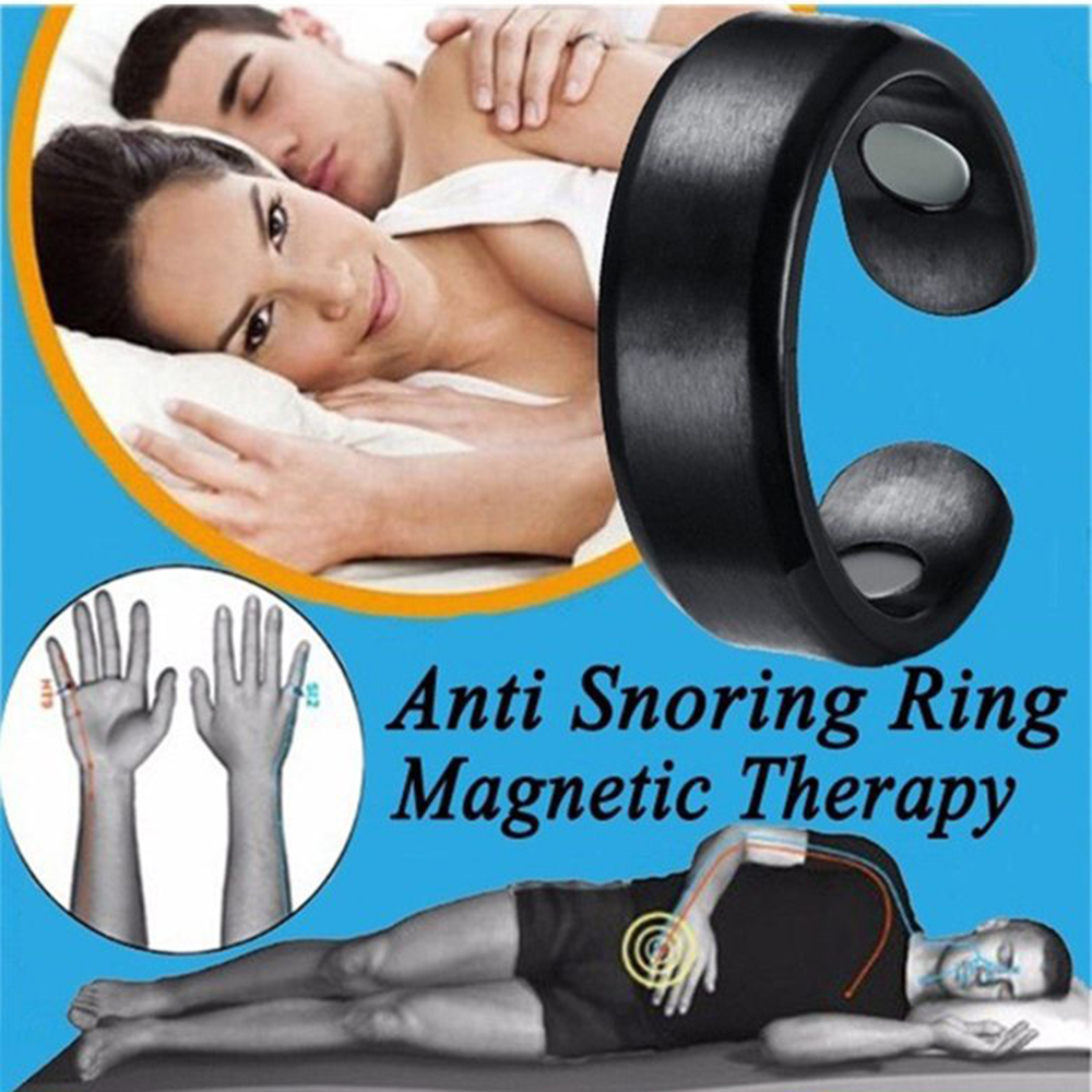 New Acupressure Anti Snore Ring Titanium Alloy Treatment Reflexology Anti Snoring Apnea Sleeping Device