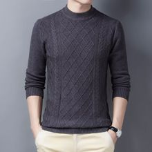 Knitted Pullover Sweaters Jersey O-Neck Long-Sleeve Winter Brand Youth Collar Slim-Fit