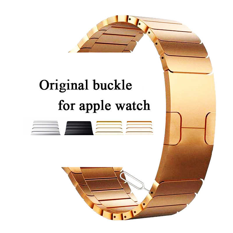 Correa de acero inoxidable para apple watch banda 42mm 38mm apple watch banda 44mm 40mm iwatch banda 44mm 42mm 5/4/3/2/1 pulsera de metal