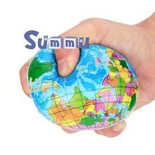 2шт детские игрушки земной шар формы squeeze игрушка для малышей антистрессовые карта мира бурлящий шарик мягкая игрушка для снятия стресса детей подарки