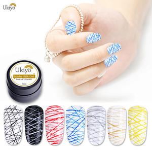 Ukiyo 5ml Spider Silk UV Gel Nail Polish Creative Wire Drawing Gel Lacquer Point To Line Pulling Silk Spide Gel Polish Painting