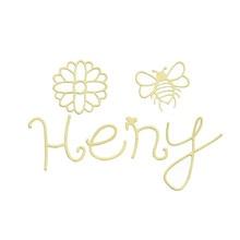 Naifumodo Honey Word Dies Bee Metal Cutting for Card Making Scrapbooking Embossing Flower Die Cut Craft New 2019