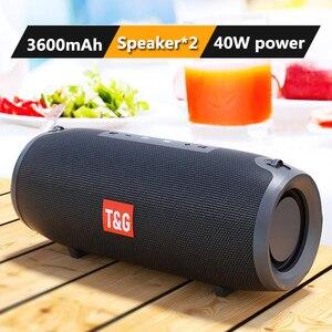 Высокая мощность 40 Вт TG118 беспроводной Bluetooth портативный стерео микрофонный сабвуфер с 3600 мАч усилитель беспроводной наружный бар Speake