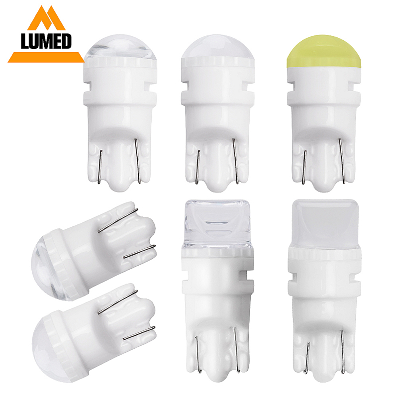 500x Ceramic <font><b>T10</b></font> W5W <font><b>LED</b></font> <font><b>Bulbs</b></font> 194 168 <font><b>Car</b></font> Interior Lights Wedge parking lights <font><b>Bulbs</b></font> for <font><b>Cars</b></font> Plate Light Auto Lamp 12V image