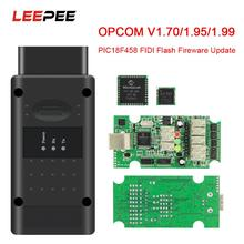 LEEPEE PIC18F458 FTDI CAN 버스 OBD OBD2 스캐너 자동차 진단 도구 Opel 플래시 펌웨어 업데이트 OPCOM V5