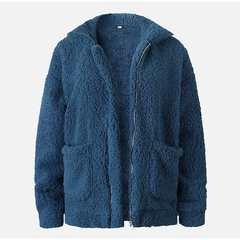 Elegant Warm Soft Zipper Fur Coat Jacket 18