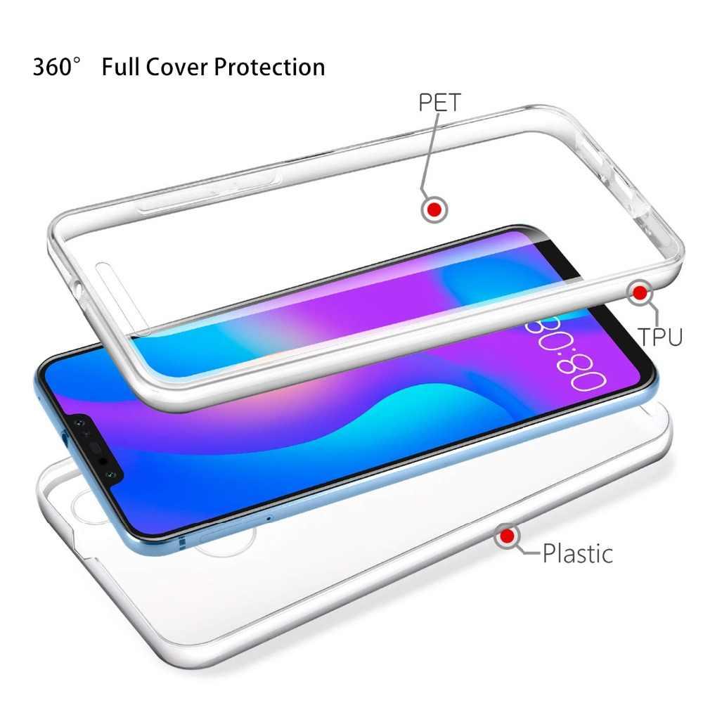 יוקרה 360 מקרה מלא כיסוי עבור Huawei P40 P30 P20 לייט Mate 30 20 10 פרו P חכם Z בתוספת מקרה שקוף מגן כיסוי אחורי